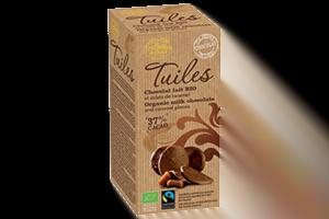 tuile bio chocolat lait et caramel