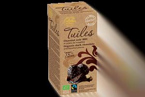 tuile bio chocolat noir et noisette