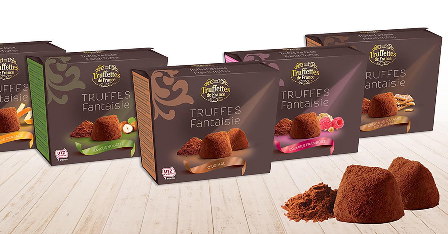 gamme de truffes Chocmod sans huile de palme.